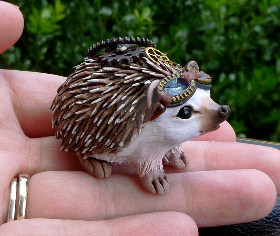 Steampunk Hedgehog by MysticReflections
