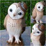Steampunk Barn Owl
