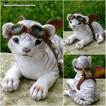 Baby Steampunk White Tiger