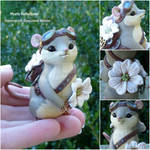 Dogwood Steampunk Mouse Sculpture.