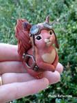 Steampunk Red Squirrel Sculpture