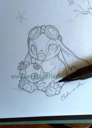 Stitch Steampunk sketch wm