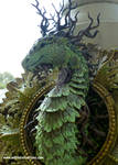 Forest Dragon Framed Sculpture