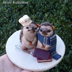 Hedgehogs in Love Wedding Cake Topper.