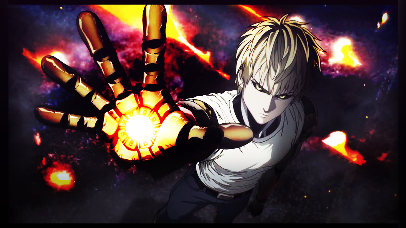 one punch man wallpaper genos by mirialorailes on