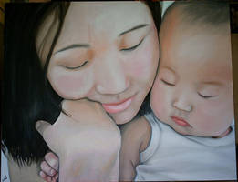 Mother and baby by HanHan
