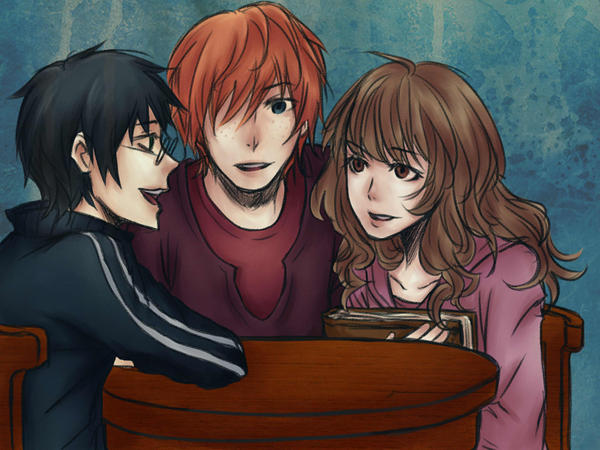 harry potter trio by mediarahan on DeviantArt