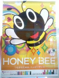 HONEY BEE Fabric Posters by yellowmocha