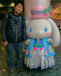 Cinnamon (New Year's costume) and me by yellowmocha