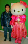 Hello Kitty (costume 2) and me by yellowmocha