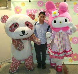 Sakura Panda and My Melody and me by yellowmocha