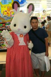 Chocolate Rabbit Sister (Regular costume) and me 5 by yellowmocha