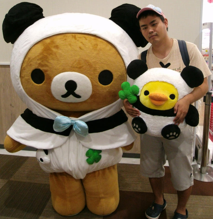 Rilakkuma meets Panda de goron and me 1 by yellowmocha