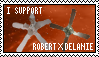 I Support RobertXDelanie Stamp by FizzGryphon