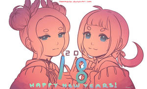 Happy New Years!!: OWO and UWU by Hammustar