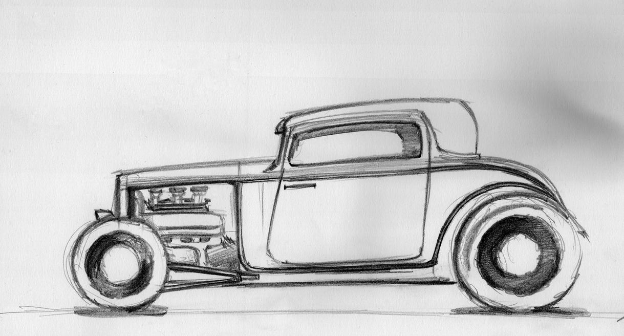Ford 32 hot rod sketch by CalinescuStefan on DeviantArt
