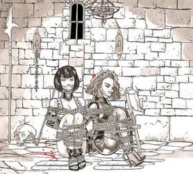 Dona Miranda and Slave by LouisTarado