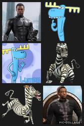 CAT: Black Panther, Marty and Lumpy by KittyGemAmazon23