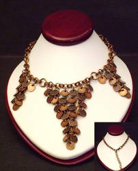 SOLD Copper Tryptich Necklace by WryGrin
