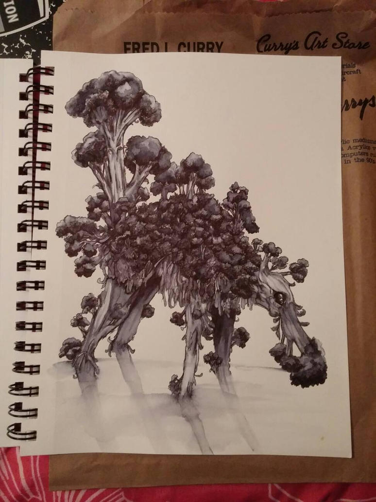 Broccoli Monster Drawing Challenge by WryGrin