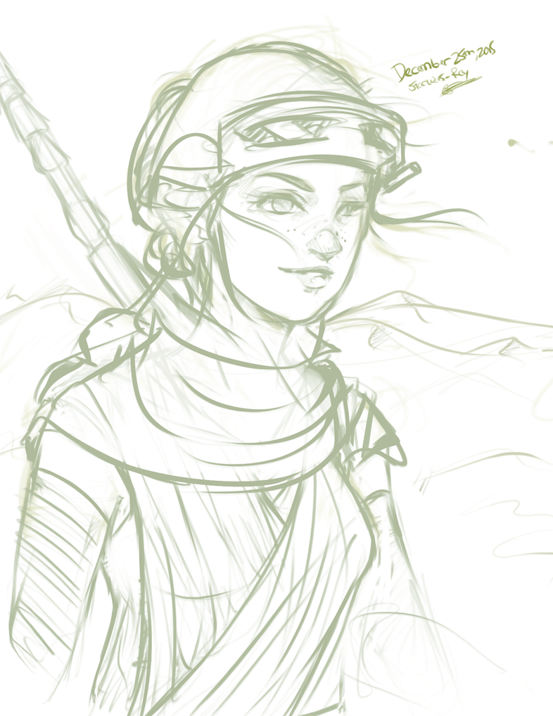 Rey Sketch by Scorch-D
