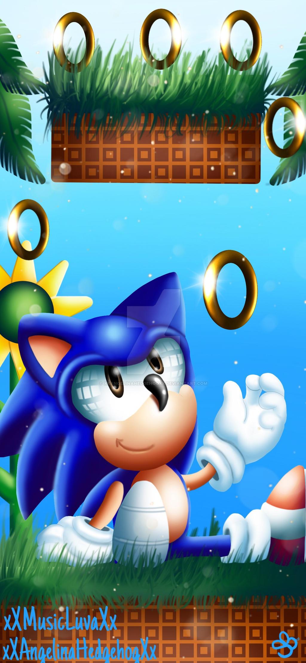 Classic Sonic Phone Wallpaper By Xxangelinahedgehogxx On Deviantart