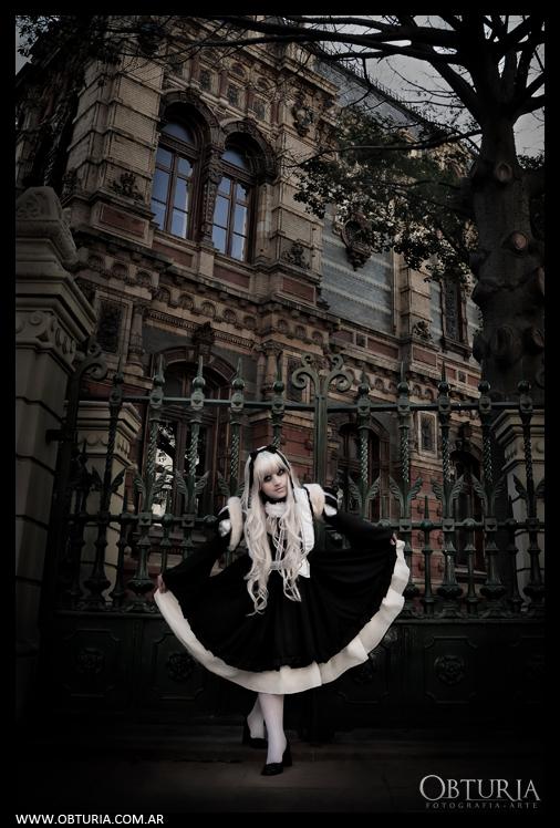 Myoubi black dress by Mikycosplay