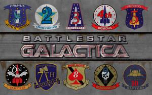 Battlestar Galactica Squadron by vectorgeek