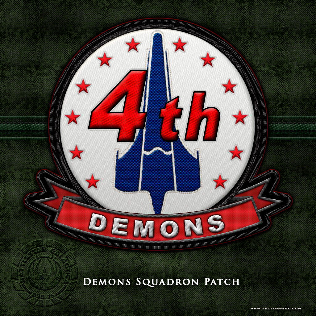 BSG Demons Squadron Patch by vectorgeek