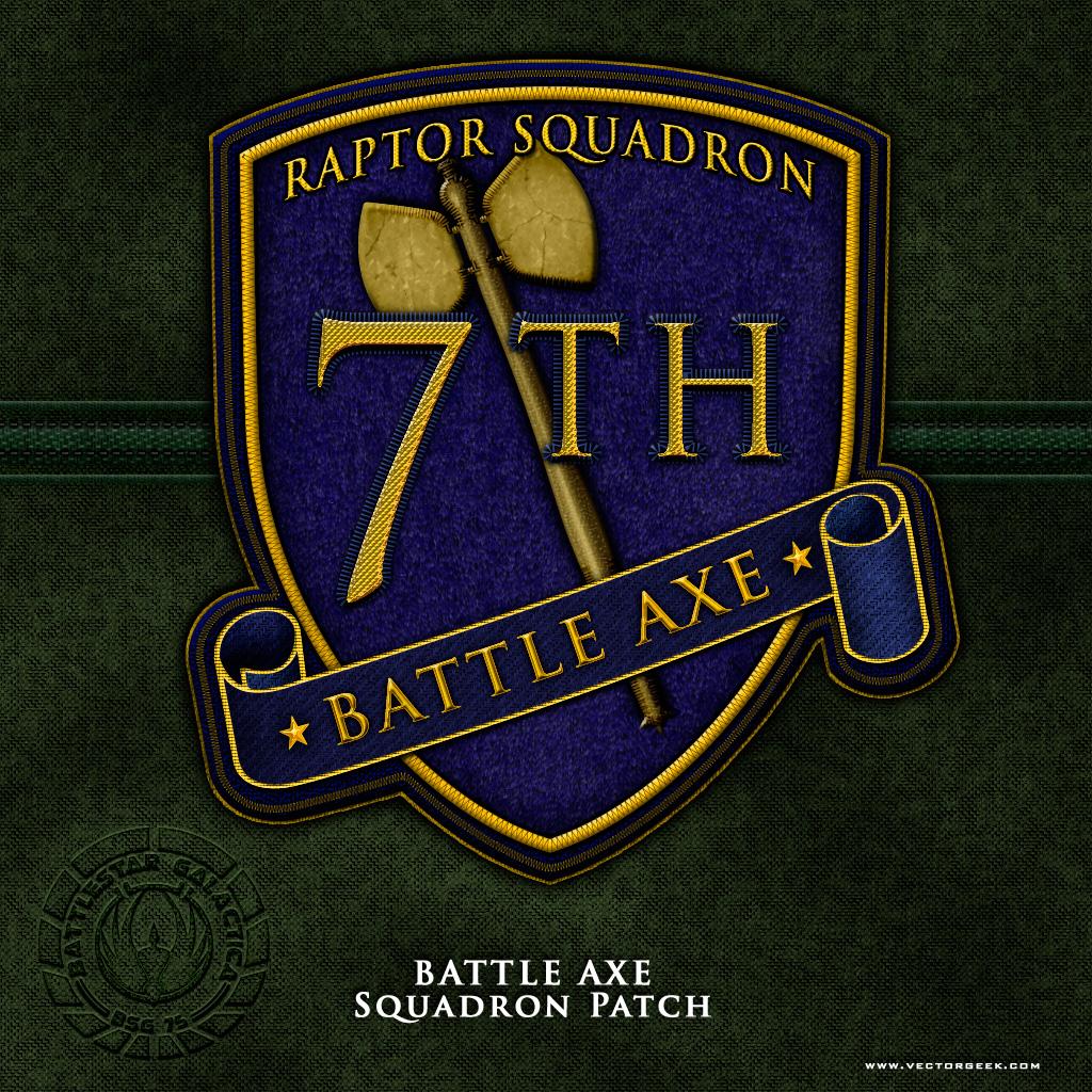 BSG Battle Axe Squadron Patch by vectorgeek