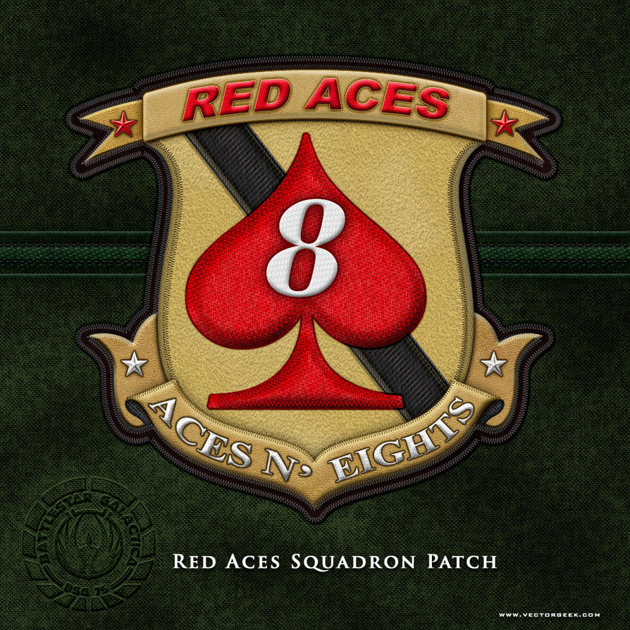BSG Red Aces Squadron Patch by vectorgeek