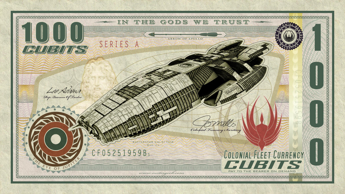 Battlestar Galactica Currency by vectorgeek
