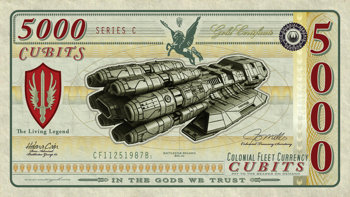 Battlestar Pegasus Currency by vectorgeek