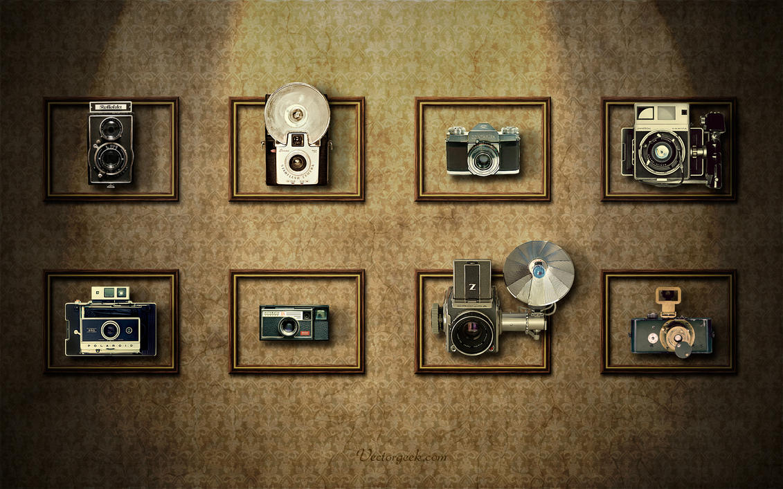 Vintage Camera Wall by...