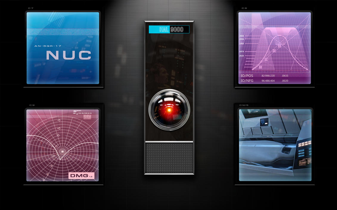 HAL-9000 wall2013 by vectorgeek