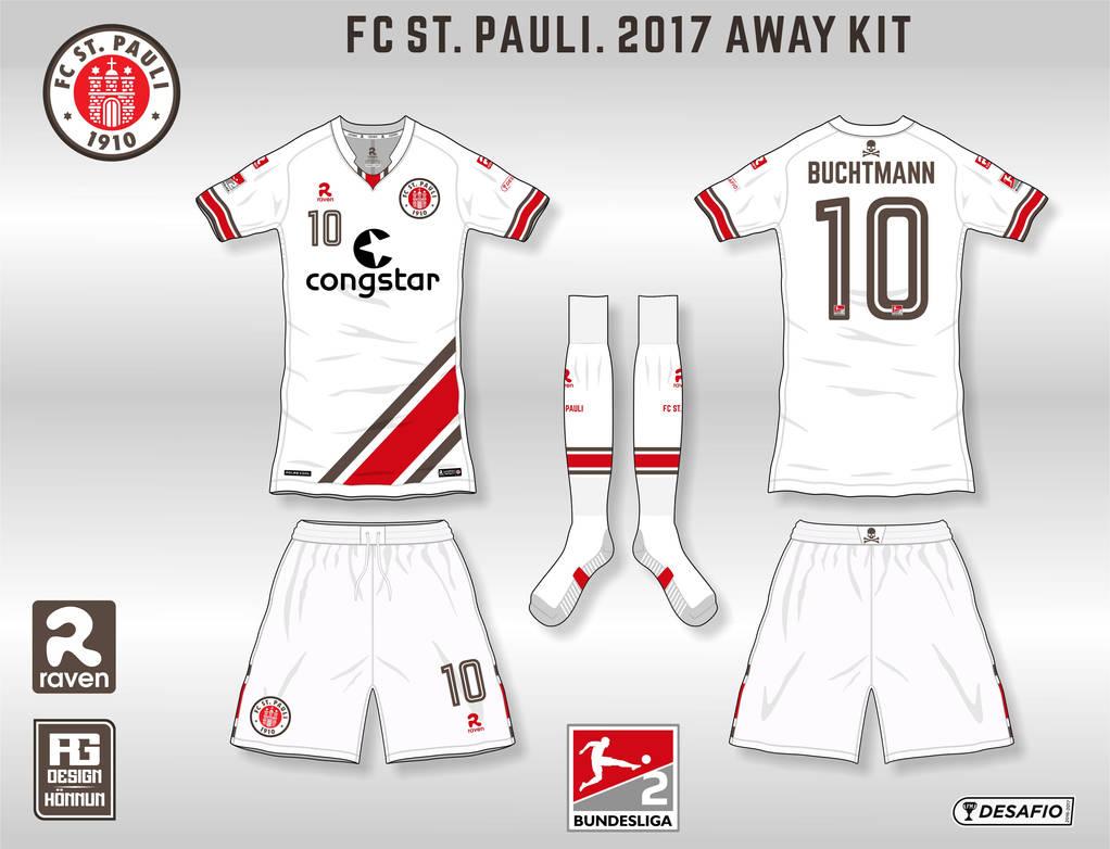pretty nice 6f78f 0e053 FC ST. PAULI 2017 Away Kit by RafnGislason on DeviantArt