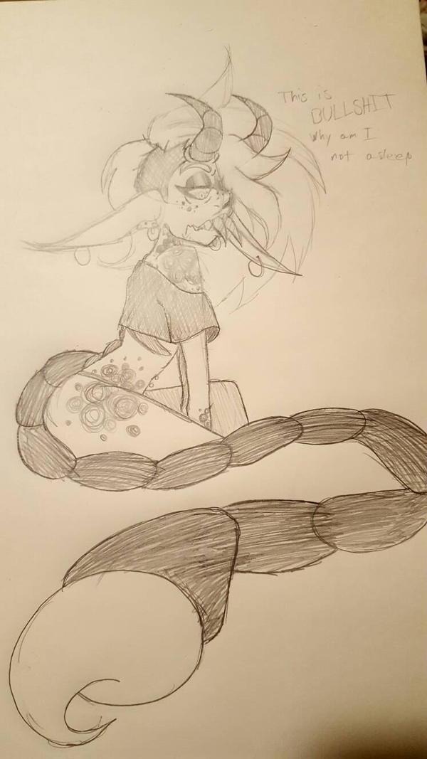 Self Indulgent No-Sleep Doodle by Greeny-Star