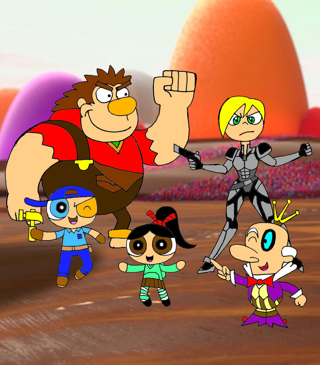 Wreck it ralph ppg version by chechego on deviantart