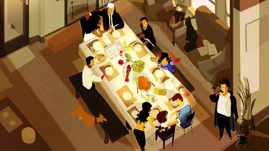 Family meal by PascalCampion