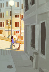 Walking the dog by PascalCampion