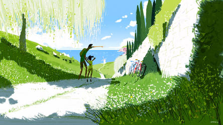 Back Roads and Summer Skies by PascalCampion
