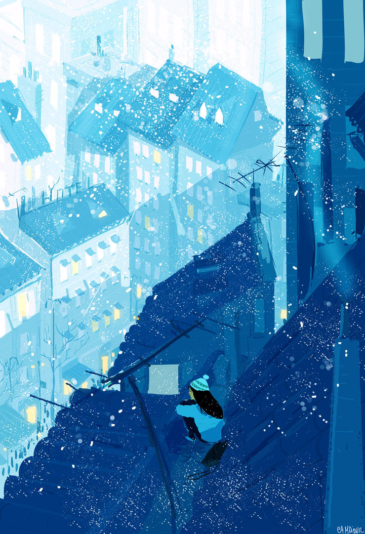 The Cold air on my cheeks by PascalCampion