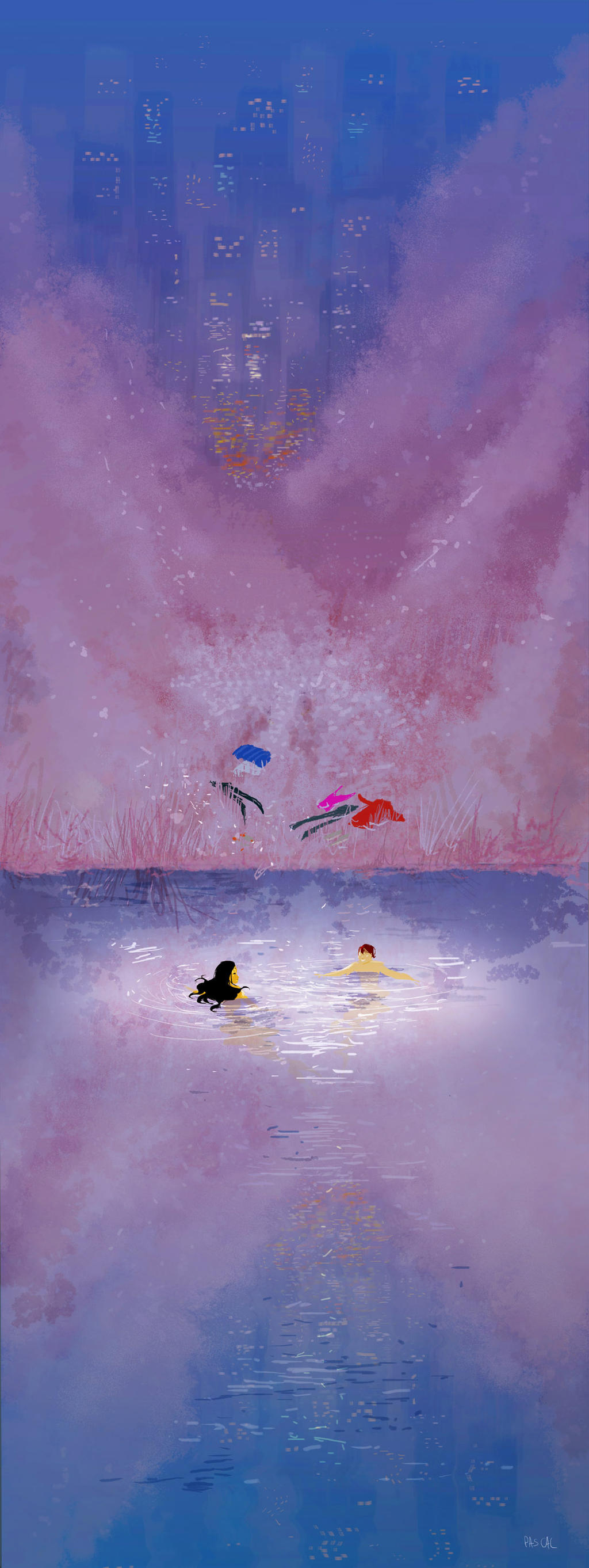 Skinny Dipping. by PascalCampion
