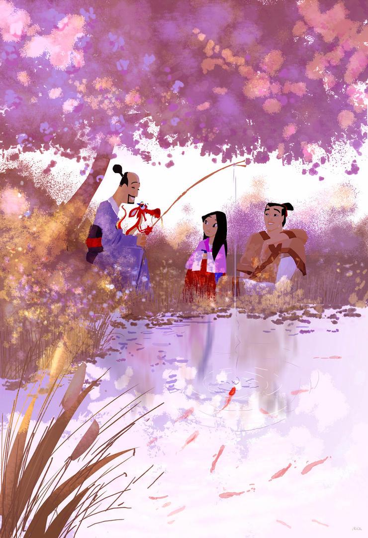 Wonderground Gallery :Mulan Print by PascalCampion