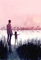 Deer Crossing by PascalCampion