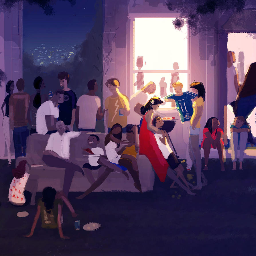 Hot night , summer party. by PascalCampion