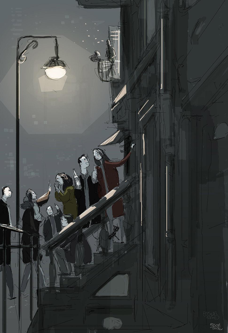 Night Life sketch by PascalCampion on DeviantArt