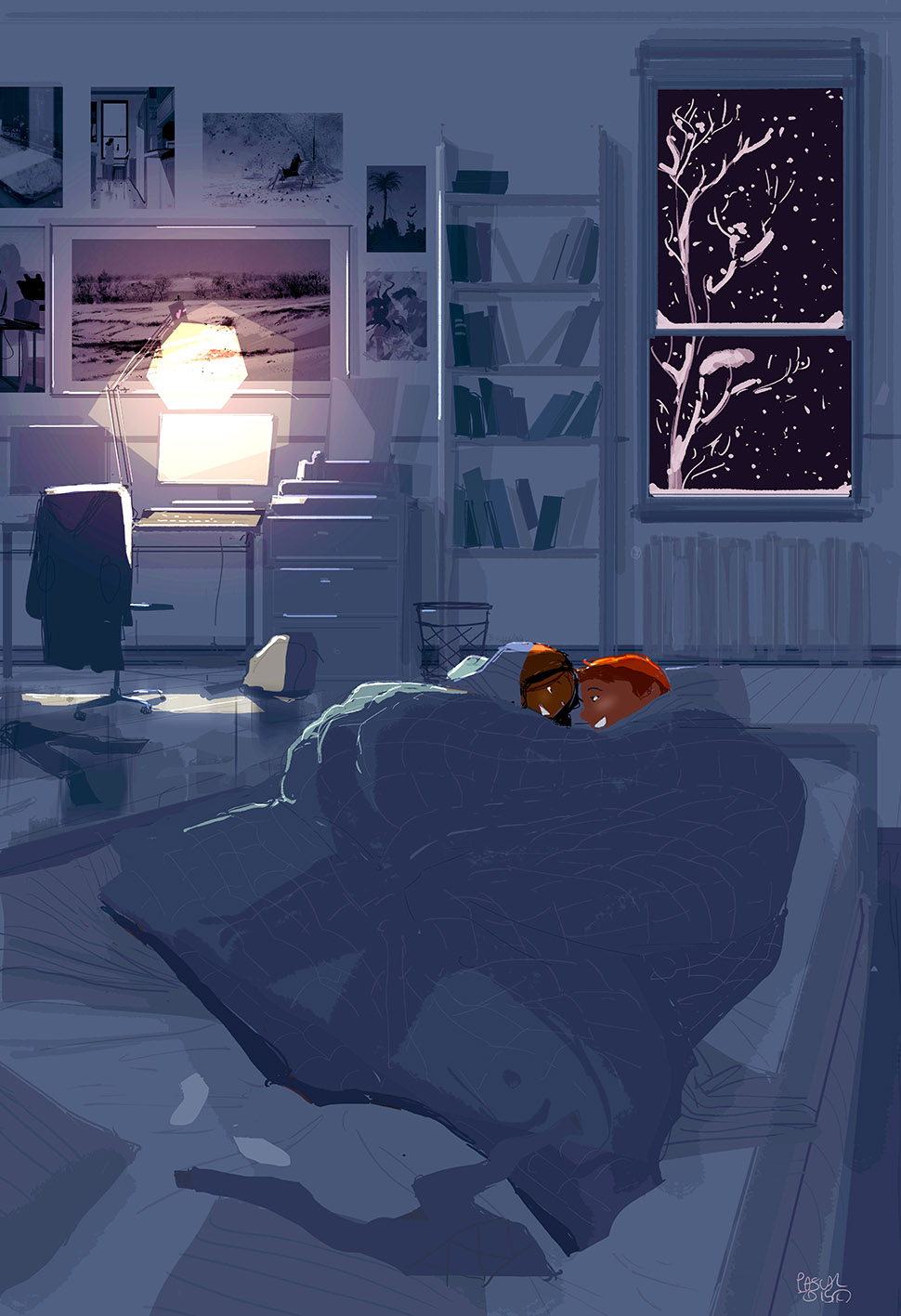 The best place to be on a snowy night by PascalCampion