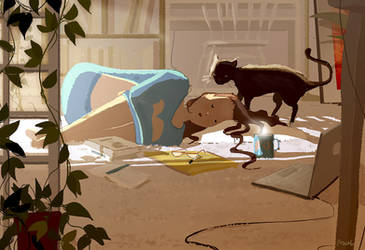 It s been a long week by PascalCampion