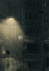 Late One Night  We Were Walking Back Together And by PascalCampion